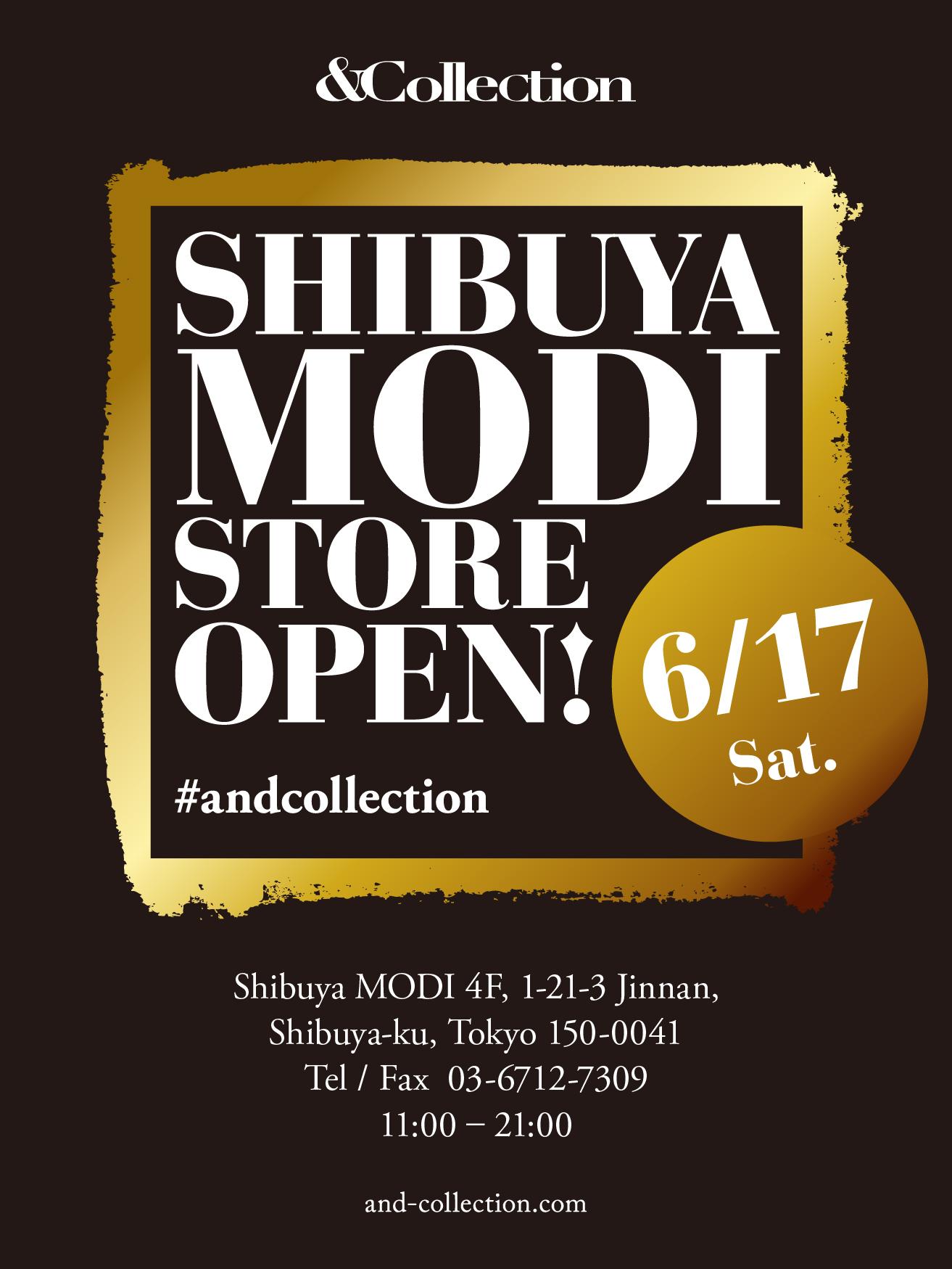 &Collectionが渋谷に初出店。渋谷MODI店として6月17日にオープン。